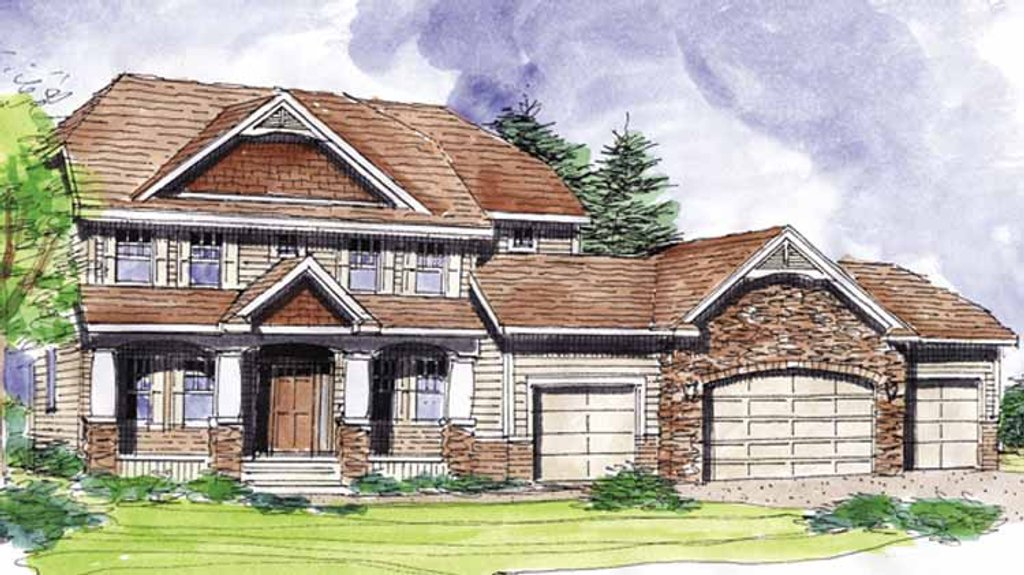 Classical Exterior - Front Elevation Plan #320-1000