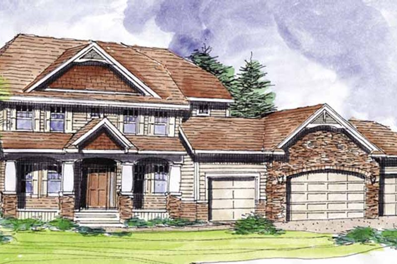 Architectural House Design - Classical Exterior - Front Elevation Plan #320-1000