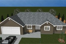 House Plan Design - Ranch Exterior - Front Elevation Plan #1060-35