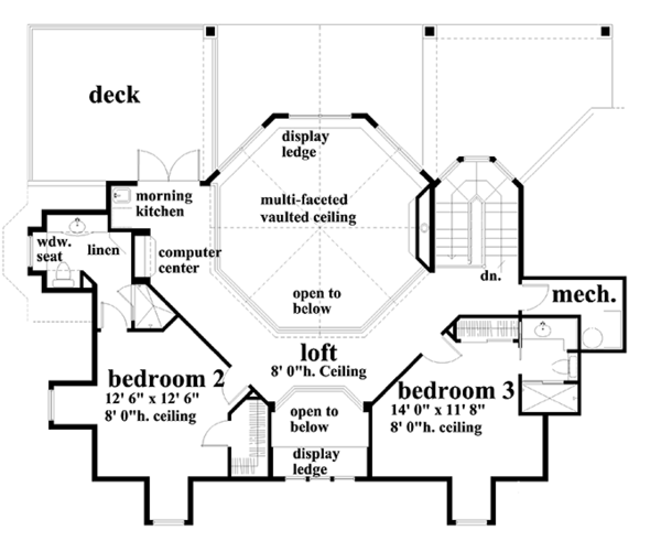 Victorian Floor Plan - Upper Floor Plan Plan #930-171