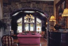 Country Interior - Family Room Plan #46-747