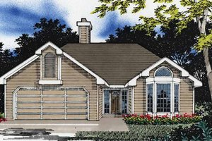 Architectural House Design - Traditional Exterior - Front Elevation Plan #509-142