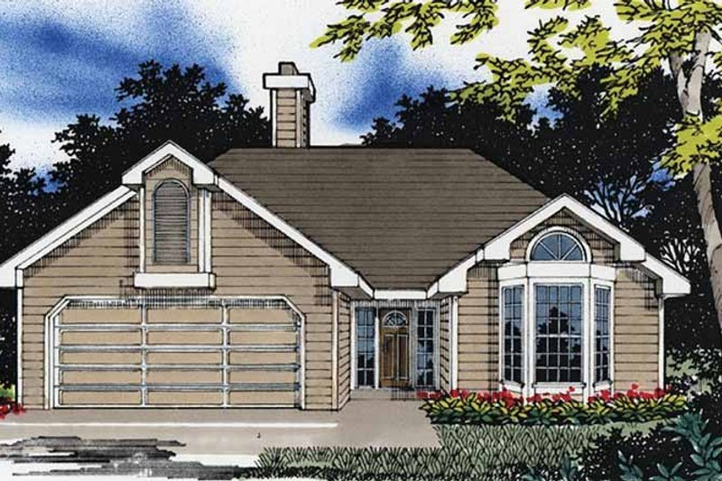Traditional Exterior - Front Elevation Plan #509-142 - Houseplans.com