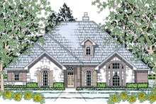Home Plan - European Exterior - Front Elevation Plan #42-396