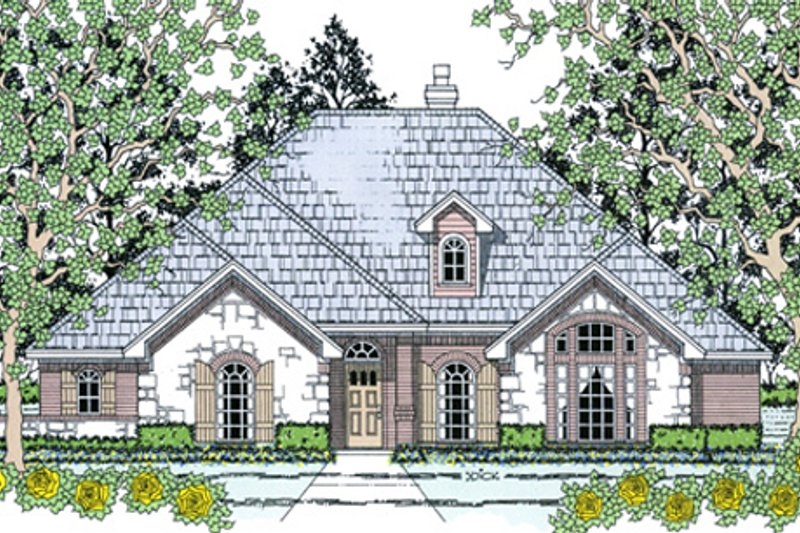 European Exterior - Front Elevation Plan #42-396