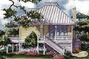 Country Style House Plan - 2 Beds 2 Baths 1772 Sq/Ft Plan #930-29 Exterior - Rear Elevation