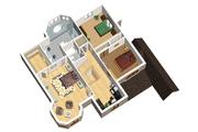 European Style House Plan - 3 Beds 2 Baths 2531 Sq/Ft Plan #25-4693 Floor Plan - Upper Floor Plan