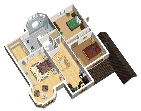 European Floor Plan - Upper Floor Plan Plan #25-4693