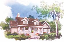 Country Exterior - Front Elevation Plan #929-362