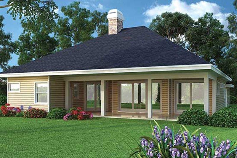 Ranch Exterior - Rear Elevation Plan #417-800 - Houseplans.com