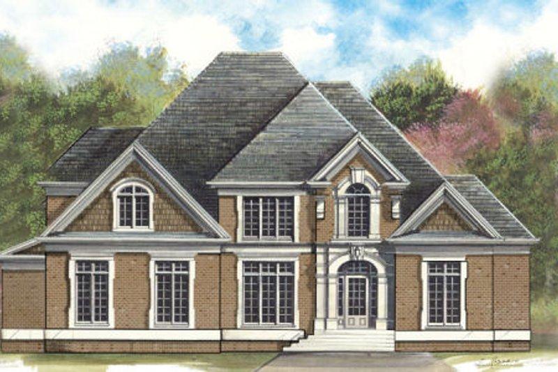 Architectural House Design - European Exterior - Front Elevation Plan #119-349