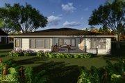 Prairie Style House Plan - 2 Beds 2.5 Baths 1850 Sq/Ft Plan #70-1268 Exterior - Rear Elevation