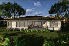 Dream House Plan - Prairie Exterior - Rear Elevation Plan #70-1268