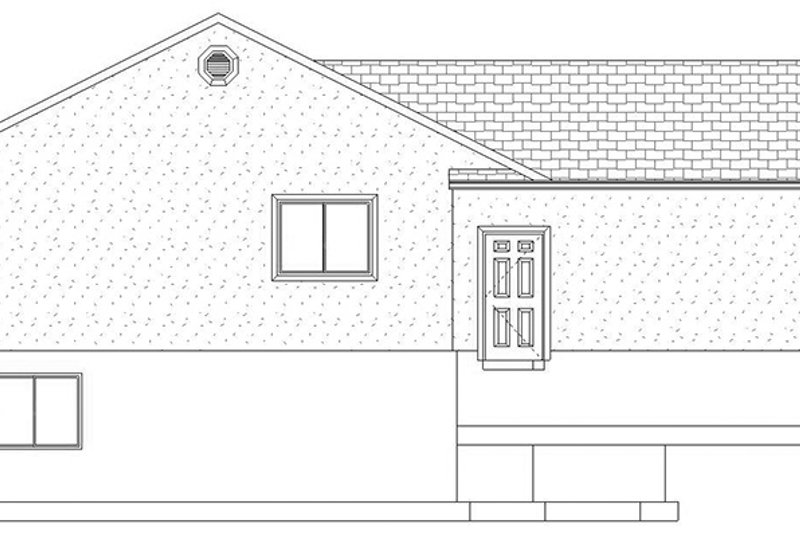Ranch Exterior - Other Elevation Plan #1060-16 - Houseplans.com