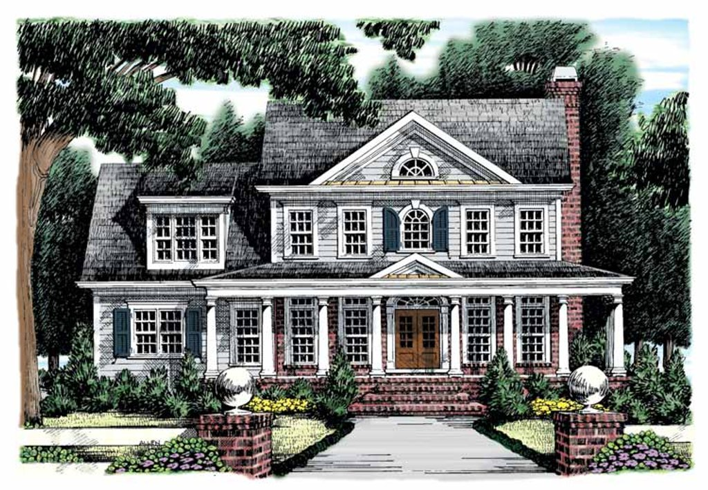 Classical Style House Plan 4 Beds 3 Baths 2426 Sq Ft