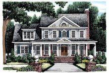 Dream House Plan - Classical Exterior - Front Elevation Plan #927-865