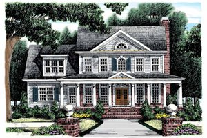 Home Plan - Classical Exterior - Front Elevation Plan #927-865