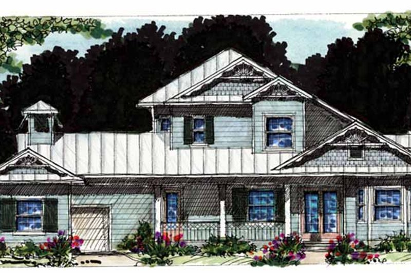 Country Exterior - Front Elevation Plan #1007-55