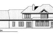 European Style House Plan - 4 Beds 3.5 Baths 4297 Sq/Ft Plan #70-547 Exterior - Rear Elevation