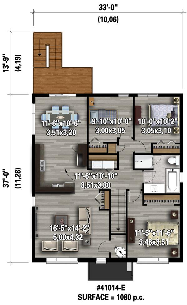 Contemporary Floor Plan - Upper Floor Plan Plan #25-4548