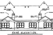 European Style House Plan - 3 Beds 3 Baths 4102 Sq/Ft Plan #20-1277 Exterior - Rear Elevation