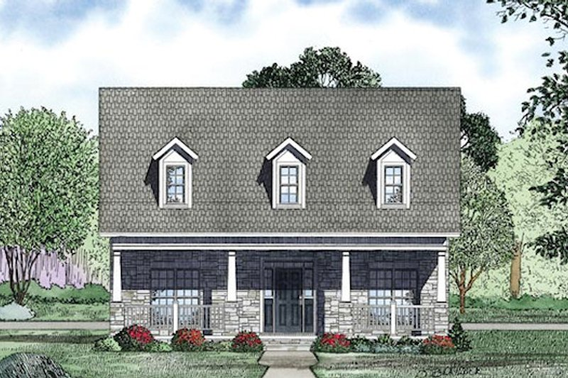 Traditional Exterior - Other Elevation Plan #17-2423 - Houseplans.com