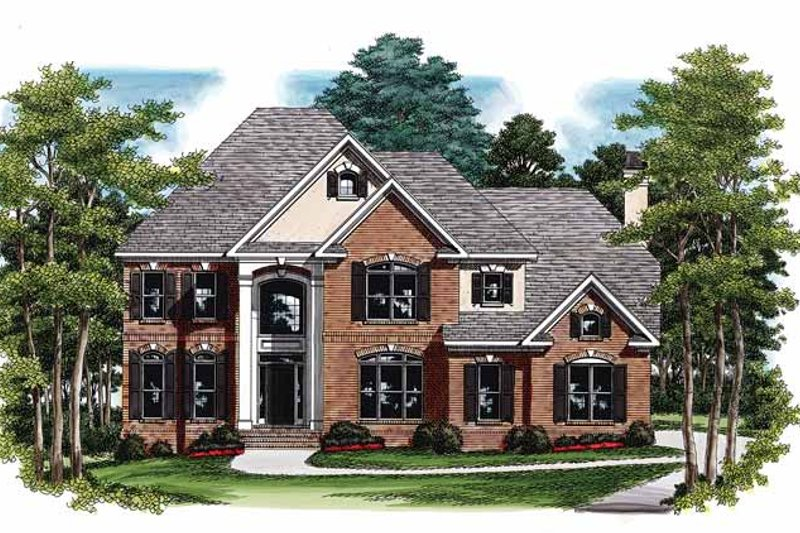 Traditional Exterior - Front Elevation Plan #927-74 - Houseplans.com