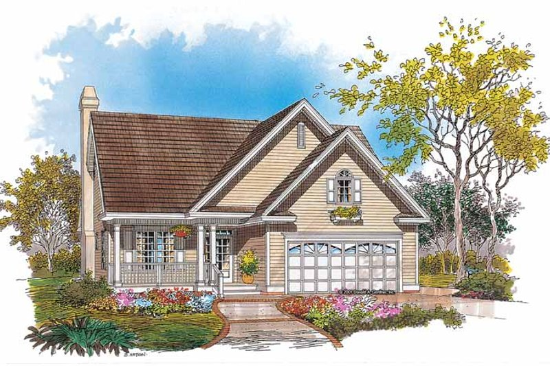 Country Exterior - Front Elevation Plan #929-627