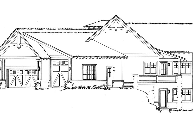 Ranch Exterior - Other Elevation Plan #942-32 - Houseplans.com