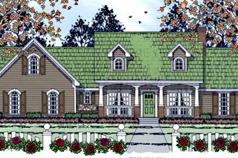 Country Exterior - Front Elevation Plan #42-700