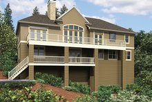 Home Plan - Traditional Exterior - Rear Elevation Plan #48-915