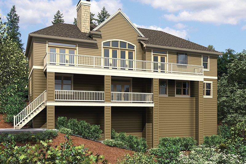 Traditional Exterior - Rear Elevation Plan #48-915 - Houseplans.com