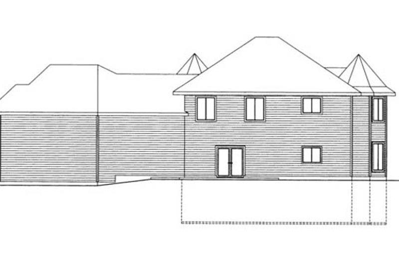 Victorian Exterior - Rear Elevation Plan #117-864 - Houseplans.com