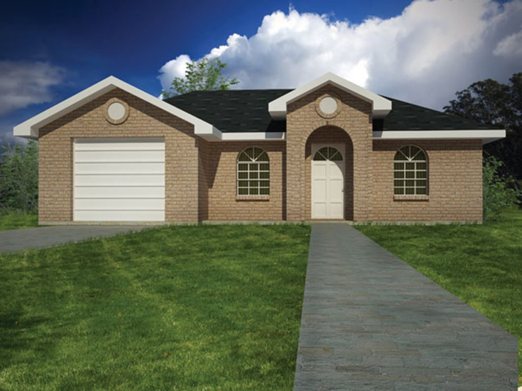 Ranch style house plan 3 beds 2 baths 1002 sq ft plan for Weinmaster house plans