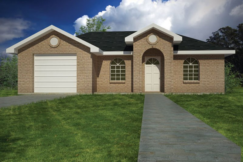 Architectural House Design - Ranch Exterior - Front Elevation Plan #1061-28