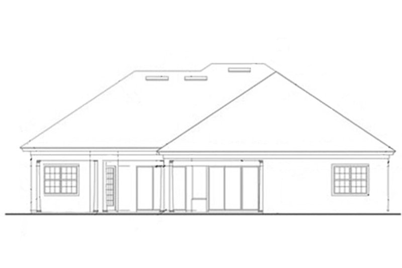 Mediterranean Exterior - Rear Elevation Plan #417-811 - Houseplans.com