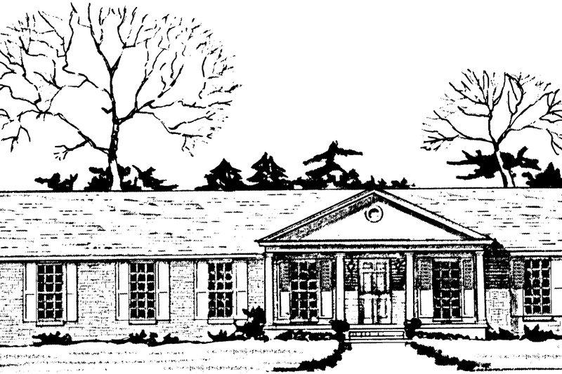 Colonial Exterior - Front Elevation Plan #10-290