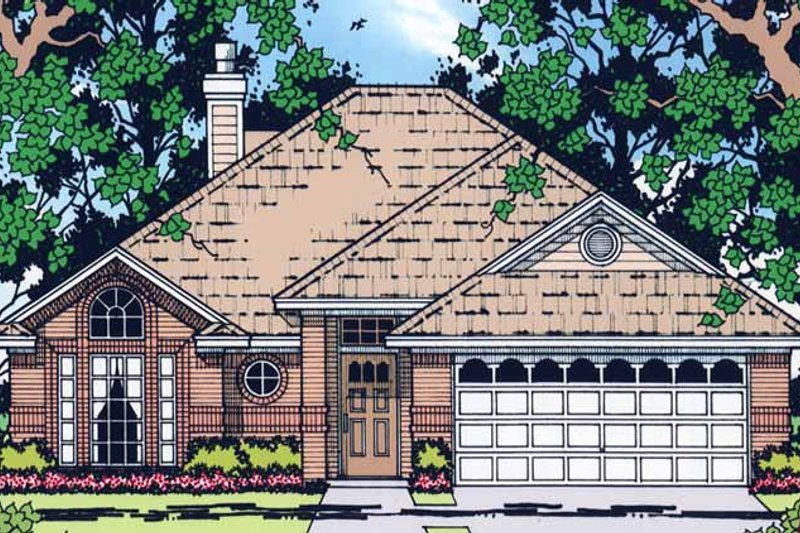 Ranch Exterior - Front Elevation Plan #42-583