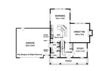 Country Floor Plan - Main Floor Plan Plan #1010-124