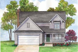 Dream House Plan - Traditional Exterior - Front Elevation Plan #435-10