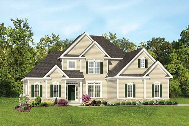 Colonial Exterior - Front Elevation Plan #1010-105