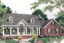Colonial Exterior - Front Elevation Plan #406-129