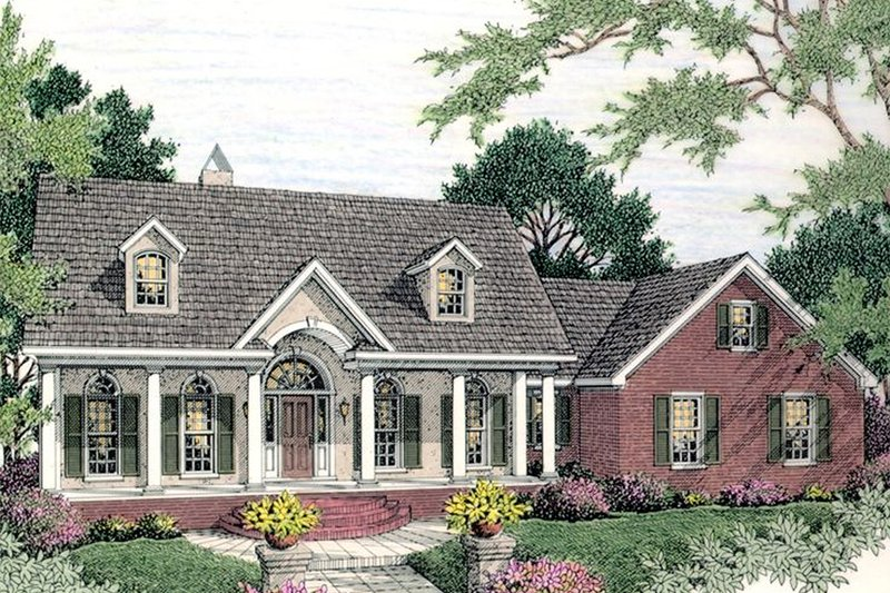 Home Plan - Colonial Exterior - Front Elevation Plan #406-129