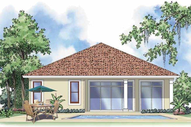 Mediterranean Exterior - Rear Elevation Plan #930-378 - Houseplans.com