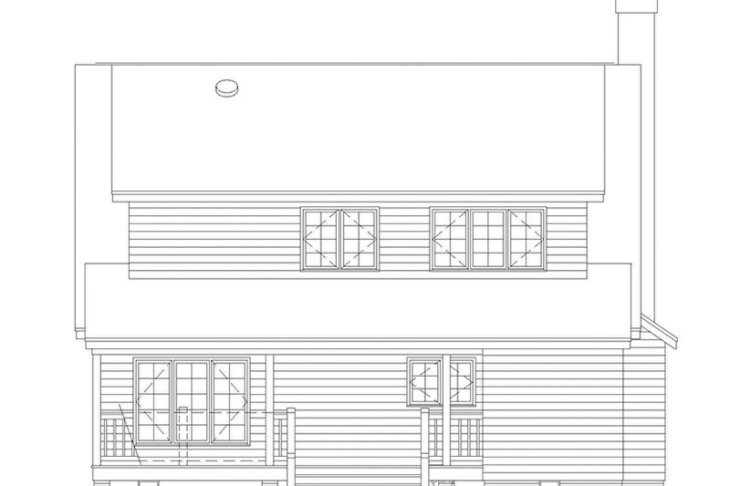 Country Exterior - Rear Elevation Plan #929-201 - Houseplans.com