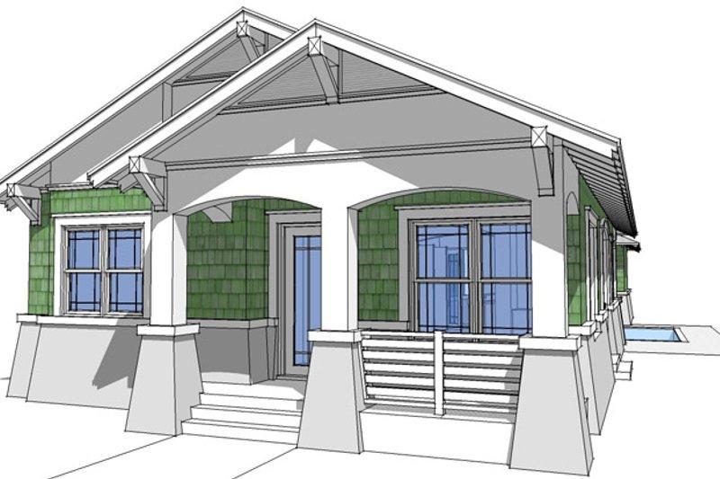 Craftsman Exterior - Front Elevation Plan #64-264 - Houseplans.com