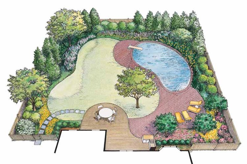 Exterior - Rear Elevation Plan #1040-66 - Houseplans.com