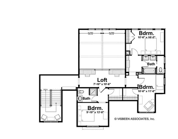 Craftsman Floor Plan - Upper Floor Plan Plan #928-184