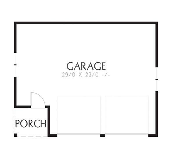 Craftsman Floor Plan - Main Floor Plan Plan #48-918