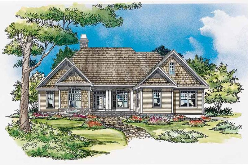 Craftsman Exterior - Front Elevation Plan #929-328